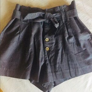 A&F paperbag shorts